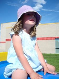 girl in a sun hat