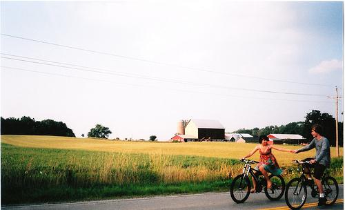 balancing on bicycles