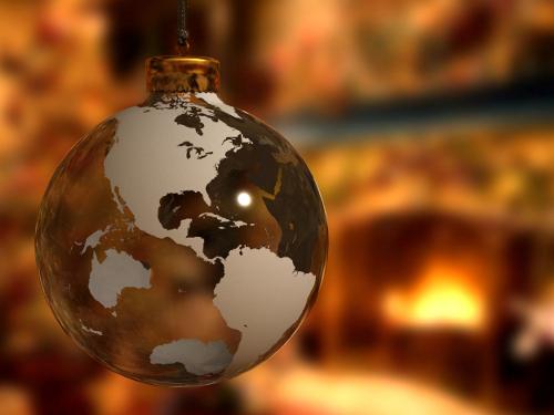 christmas earth decoration