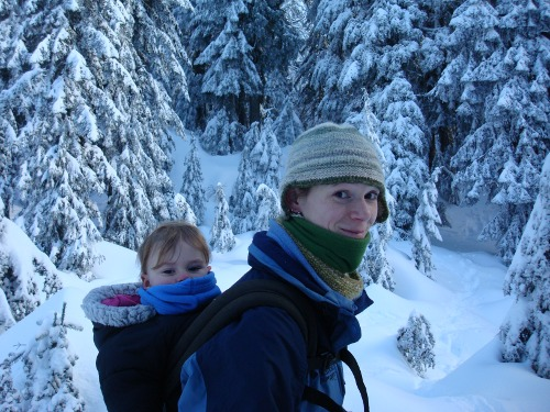 snowshoeing with a toddler