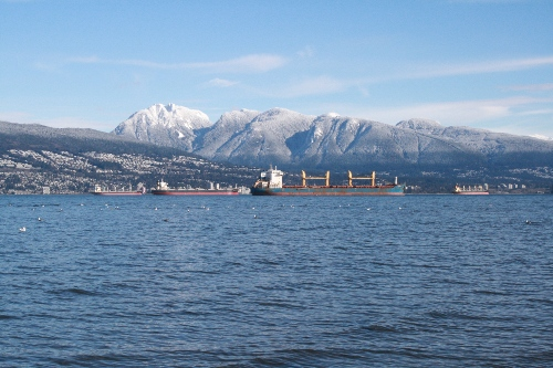 grouse mountain covered in snow