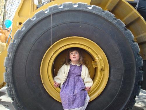 bea in a big wheel
