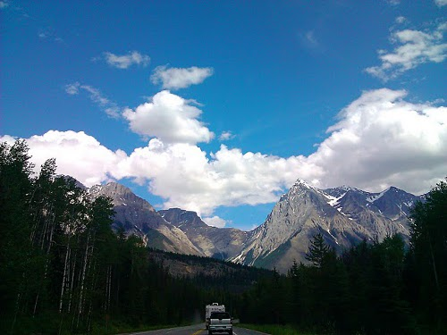 driving in the rocky mountains