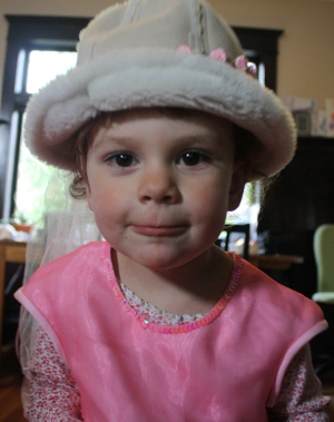 toddler wearing dressup clothes