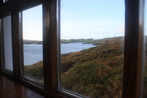window view from riverside cottage in Ireland