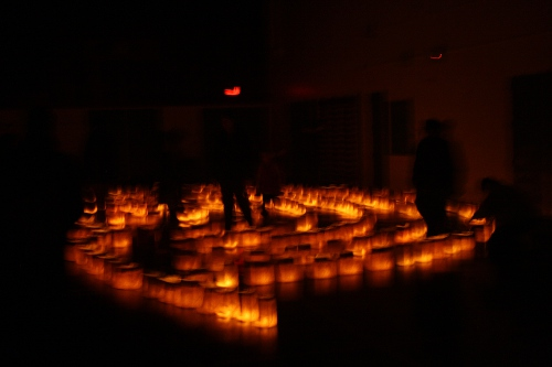solstice candle labyrinth