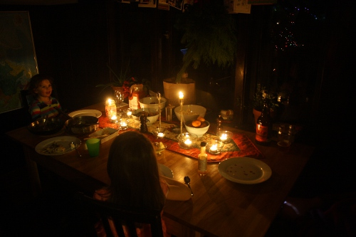 candlelight solstice dinner