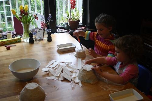 making paper mache