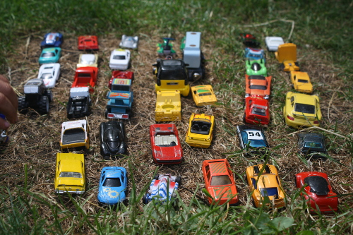 counting matchbox cars