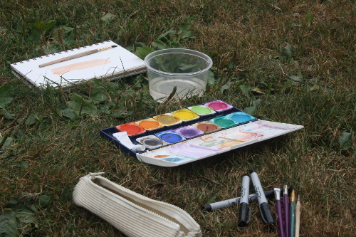 watercolours en plein air