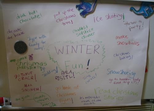 a list of fun winter activities